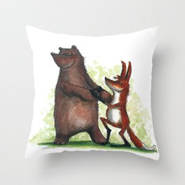 Bear & Fox Throw Pillow
