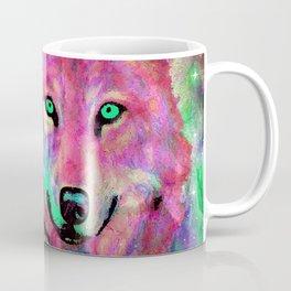 NEBULA WOLF OF MY DREAMS PINK Coffee Mug