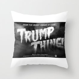 Trump Thing! with subtitle Throw Pillow
