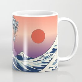 The Great Wave of Maltese Coffee Mug