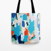 cape cod Tote Bags featuring Cape Cod by kristinesarleyart