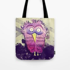 An Owl with wide Eyes Tote Bag