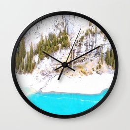 At Cliff Wall Clock