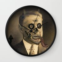 satan Wall Clocks featuring Satan by Beery Method