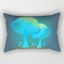 Glowing Mushrooms Rectangular Pillow