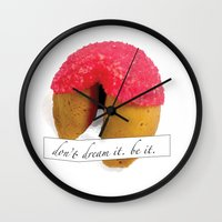 rocky horror picture show Wall Clocks featuring Rocky Horror Picture Show Don't Dream it, be it by karebear0025