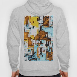 yellow brown and blue Hoody