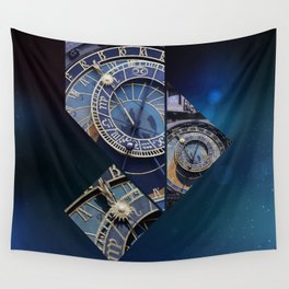 Prague Astronomical Clock Wall Tapestry