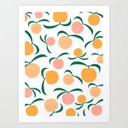 Peach Me Art Print