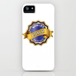 World's Okayest Coach iPhone Case