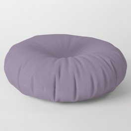 GRAPE COMPOTE dusty purple solid color Floor Pillow