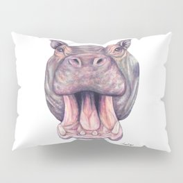 Hippopotamus Pillow Sham