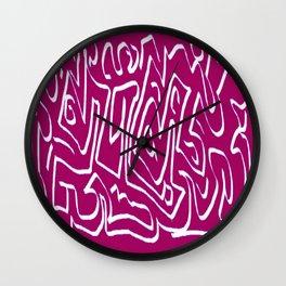 Laberinto violet white Wall Clock