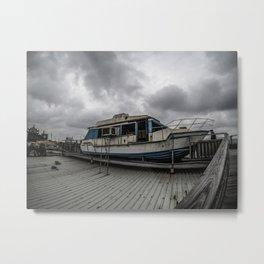 Beached Boat Metal Print