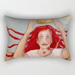 Crowning Herself Rectangular Pillow