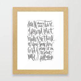 Do I wanna know? [2] Framed Art Print