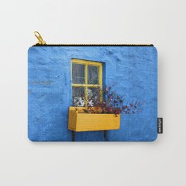 FLOWER - BOX - YELLOW - BLUE - WALL - PHOTOGRAPHY Carry-All Pouch