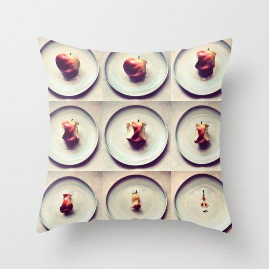 Apple life Throw Pillow