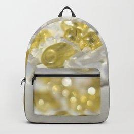 Golden Glass Beads Backpack
