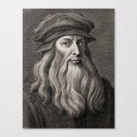 da vinci Canvas Prints featuring Leonardo da Vinci by Palazzo Art Gallery