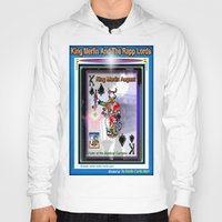 merlin Hoodies featuring KING MERLIN by KEVIN CURTIS BARR'S ART OF FAMOUS FACES