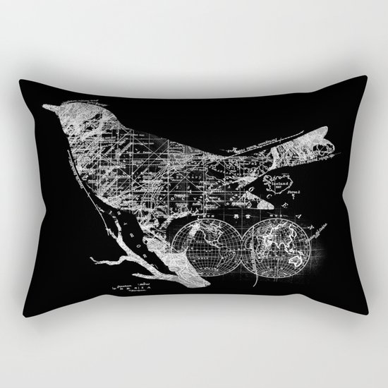 Bird Wanderlust Rectangular Pillow