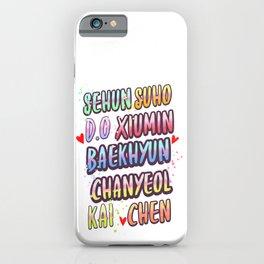 exo name iPhone Case