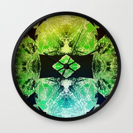 Green Mandala-Heart Chakra Wall Clock