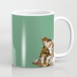 Sneaky Cat Coffee Mug