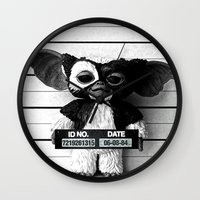 gizmo Wall Clocks featuring Gizmo lineup by Christophe Chiozzi