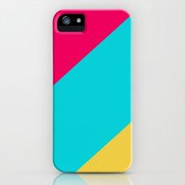 Neon Pastel Stripes iPhone Case