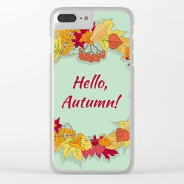 Hello, Autumn! Clear iPhone Case