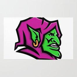 Goblin Head Mascot Rug