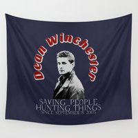 winchester Wall Tapestries featuring Family Business - Dean Winchester by Fandom GoodieZ