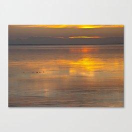 Sunset Waddensea Canvas Print