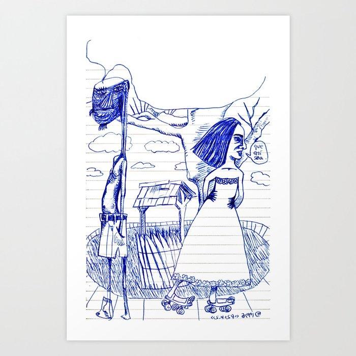 1996-02-02 aka «que así sea» Art Print