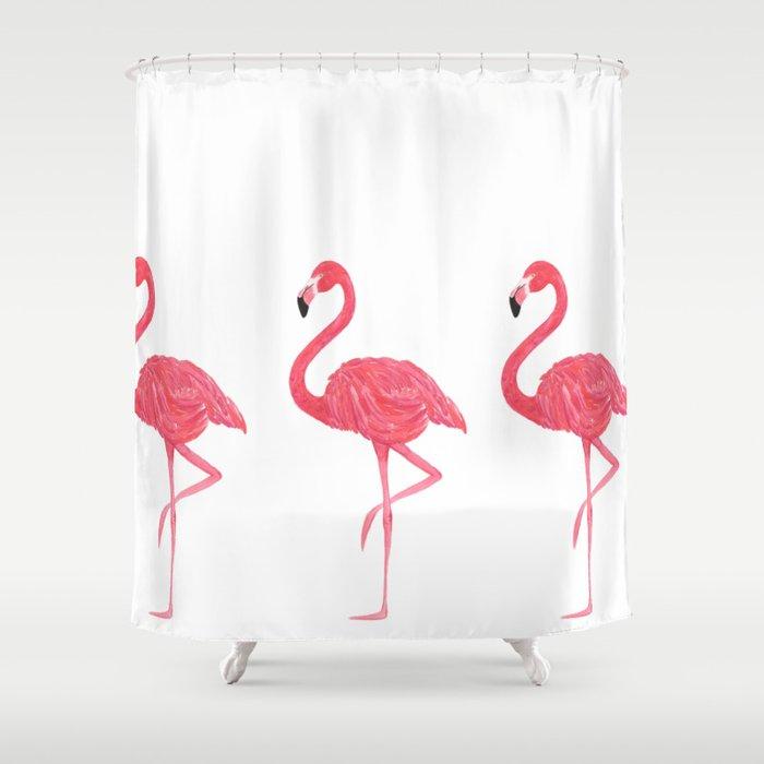 Flamingo Tropical Dance Shower Curtain