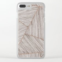 Blushed Lines Clear iPhone Case