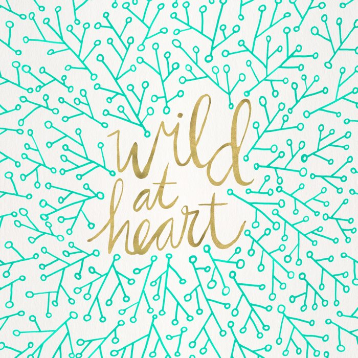 Wild at Heart – Turquoise & Gold Duvet Cover