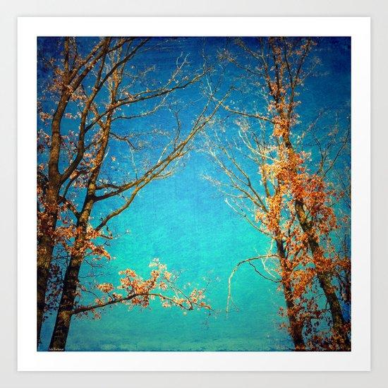 Love among the trees Art Print