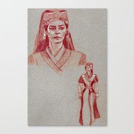 Turkish Tribe Maiden (Achromatic) Canvas Print