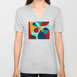 Abstract pattern Cuts Unisex V-Neck
