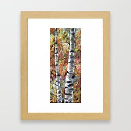 Aspen Trees Panorama Framed Art Print