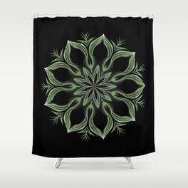 Alien Mandala Swirl Shower Curtain
