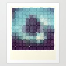Polaroid Pixels II (Tree) Art Print