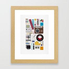 Stuff (white background) Framed Art Print