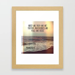 Bible Verse: Mercy and Truth Framed Art Print