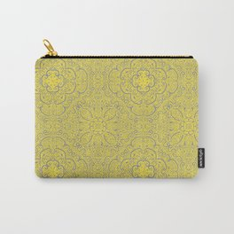 Illuminating Yellow & Ultimate Gray Pattern Carry-All Pouch
