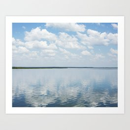 Reflections of Clouds Art Print