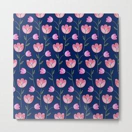 Watercolor Tulips Metal Print